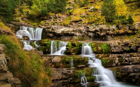 waterfall - fun, cool, forest, waterfall, nature