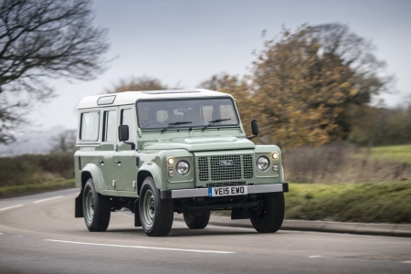 land rover defender 110 heritage - grass, defender, land, heritage, rover