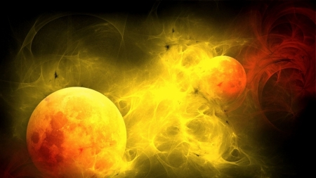 planets - gas, planets, abstract, space