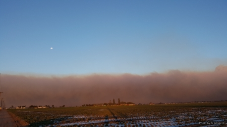 Thomas Fire, Ventura County, California - Moon, Ventura, California, Strawberry, Field, Smoke, Sky, Fire