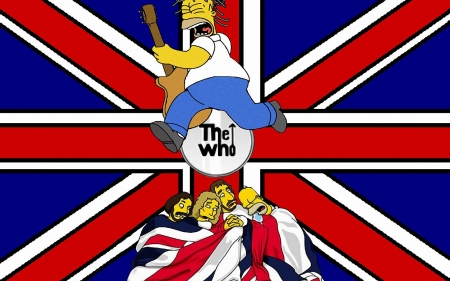 the simpsons - who, simpsons, flag, homer