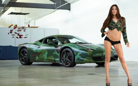 Michaela Isizzu and her Lamborghini