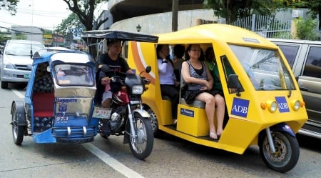 electric tricycle - girl, electric, tricycle, taxi