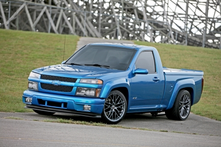 Custom 2004-Chevy-Colorado - GM, Bowtie, Blue, Truck