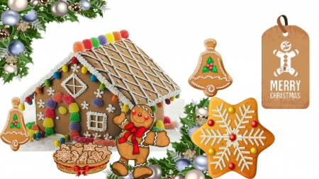 My Gingerbread House - bread, christmas, ginger bread, wallpaper