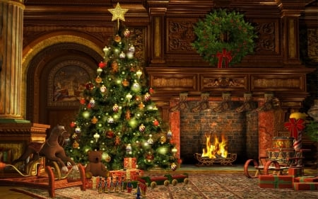 Victorian Christmas 3d And Cg Amp Abstract Background