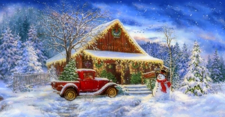 Country Christmas Background Wallpaper.Christmas Country Store Winter Nature Background