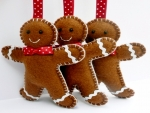 Gingerbreads On Ribbons