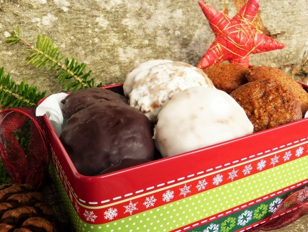 Gingerbread - Christmas, Box, Cookies, Gingerbread, Sweets
