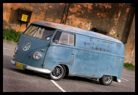 Old VW Bus - VW, Old, Transport, Bus, Van