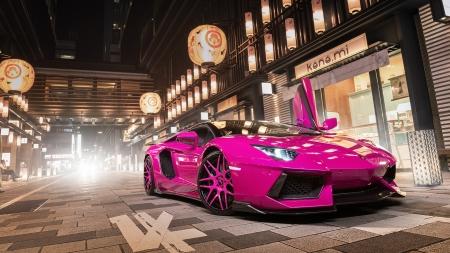 Pink Lamborghini Aventador Lamborghini Cars Background