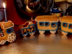 Gingerbread Birthday Candle Train