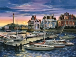 Harbor at Sunset F