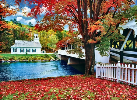 Covered Bridge - photo, architecture, photography, bridge, covered bridge, wide screen, beautiful, scenery