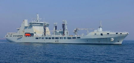 WORLD OF WARSHIPS RFA TIDESPRING ROYAL FLEET AUXILIARY - 37000 tons, 27 kts speed, 659ft, CODELOT, 18200 nm range