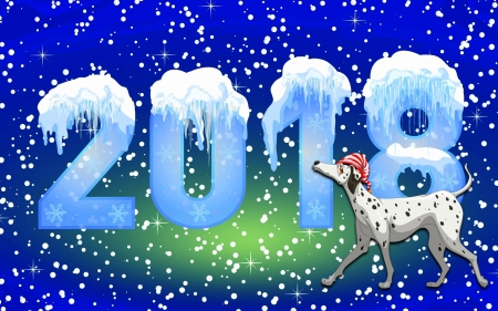 NEW YEAR 2018 - Christmas, holidays, love four seasons, creative pre-made, xmas and new year, New Year 2018, winter, snow, winter holidays