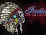Indian Motorcycle white chief skull