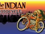 Vintage Indian motorcycle ad updated