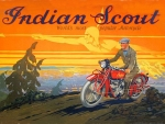 Indian Scout ad art