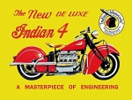 Indian 4 deluxe sign