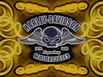 Harley Skull scroll logo