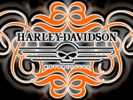 Harley Davidson Scroll skull