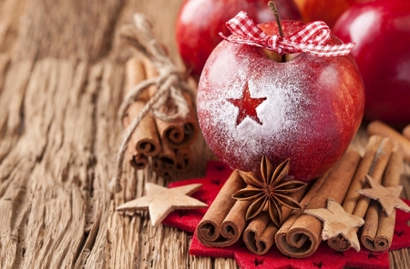 ❤ - Apple, red, christmas, sweet