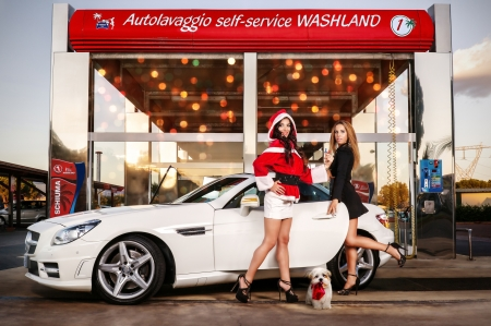 Xmas At The Car Wash Girls And Cars Cars Background Wallpapers