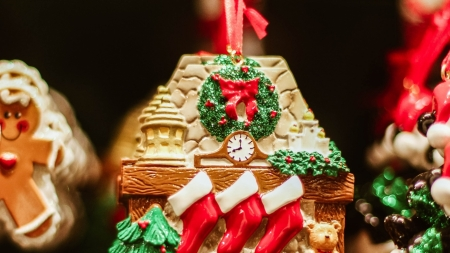 Christmas Gingerbread House Background.Christmas Gingerbread House Photography Abstract