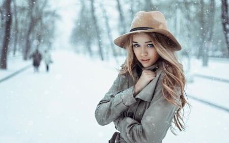 Winter Beauty ♥ - girl, snow, beauty, beautiful, woman, winter