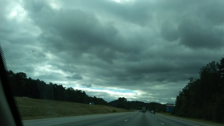 Cool clouds! - awesome, roads, sky, clouds