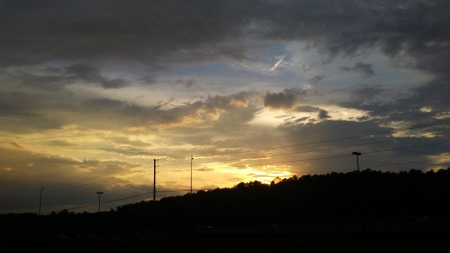 Sunset in Alabama - Alabama, sunset, sky, clouds