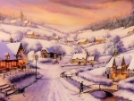 Winter village