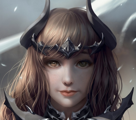 Dark Knight - luminos, girl, chubymi, dark knight, face, final fantasy