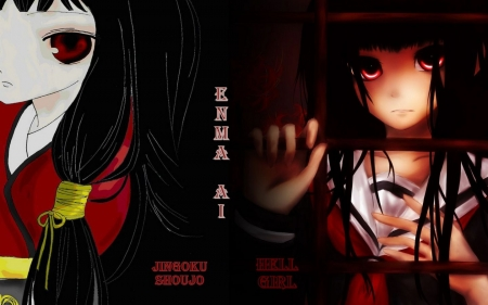 Emma Ai New 03 (My Wall) - Emma Ai, Anime, Corel, Girl, Jigoku Shoujo, My Wall