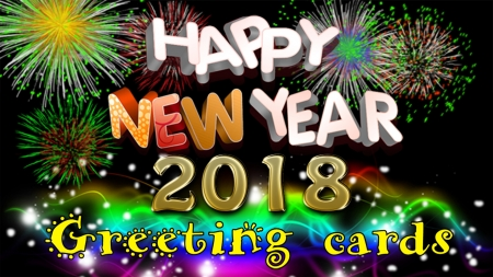Happy New Year 2018 - 3D and CG u0026 Abstract Background Wallpapers