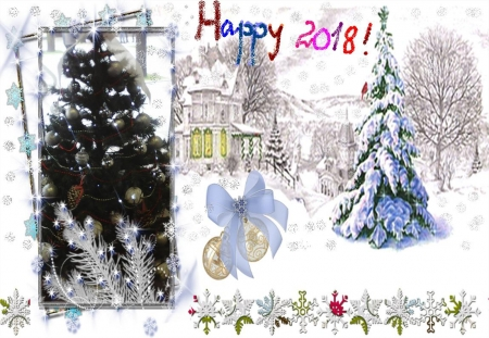 Happy New Year - new year, holidays, greetings, winter