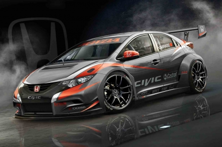 Honda 2014 WTCC Civic - winner, car, racing, honda, fast