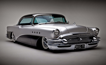 1955 Buick - car, custom, silver, luxury, vintage