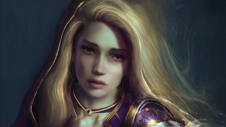 World of Warcraft - art, girl, elf, world of warcraft, blonde, face, wow