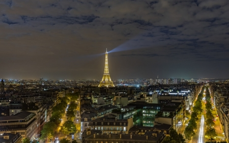 Paris, France - night, city, Paris, France, Eifel tower
