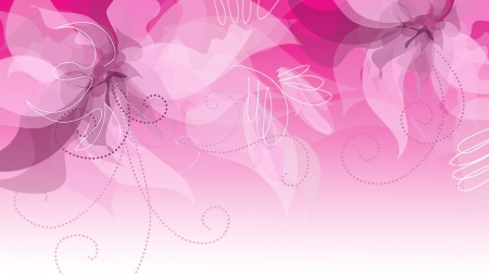 Pink Floral Treasures - artistic, art, leaves, transparent, flowers, pink, Firefox Persona theme