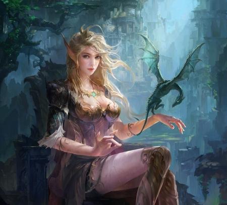 DEBRA: Fantasy elf girl
