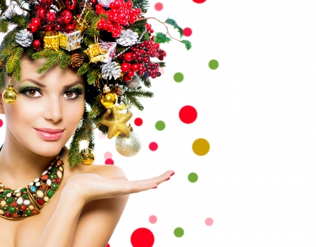 Christmas Beauty - Model, Makeup, Face, Girl