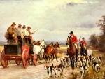 A Hunt Passing a Coach