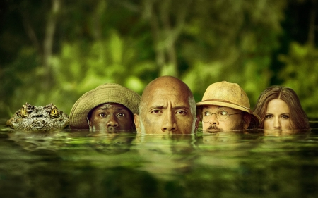 Jumanji: Welcome to the Jungle - Dwayne Johnson, Video Game, Kevin Hart, Movie