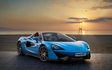 Mclaren Spider - cool, car, Spider, Mclaren, sunset, fun