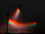 Traffic lights in fog