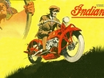 1911 Indian Motorcycle ad art