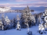 Snow Over Lake Tahoe